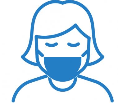 Mund-Nasen-Schutz tragen